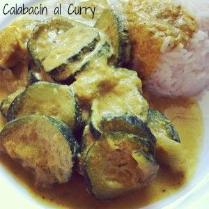 Calabacín al curry