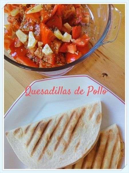 Quesadillas pollo