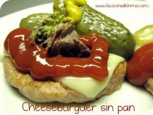 Cheeseburger sin pan