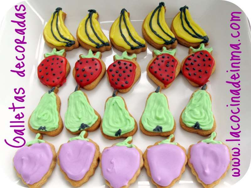 Galletas decoradas Frutas