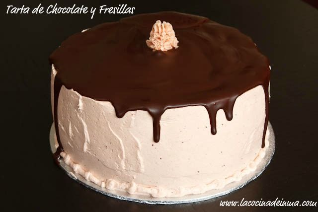 Tarta de Chocolate y Fresillas